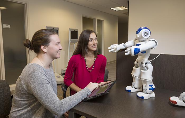 UGA Professor and Student with Robot